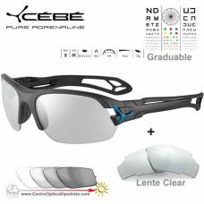 Cebe S PRING 2.0 CBS040 Matte Black Blue / Vario Grey Light Silver AF