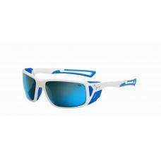 Слънчеви очила CEBE Proguide CBPROG3 Shiny White Blue/ 4000 Grey Mineral AR Blue FM